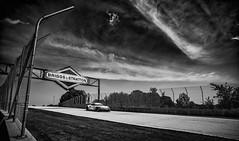 Briggs and Stratton 911 - Explored 11-24-2018 (speedcenter2001) Tags: d810 911 porschegtteam porsche911rsr patrickpilet nicktandy monochrome blackandwhite noiretblanc silverefexpro2 silverefex sep2 nikon20mmf35ai manualfocus elkhartlake wi usa roadamerica wisconsin motorsports imsa race racecar racetrack racing elkhart sportscar briggsandstratton porsche sky clouds
