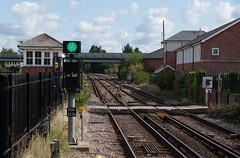 IMGP1949 (mattbuck4950) Tags: england unitedkingdom europe railways august mainlinerailways dorset wareham southwesternmainline signals 2018 camerapentaxk70 lenssigma18300mm warehamrailwaystation gbr