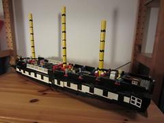 IMG_1252 (argo naut) Tags: lego 74 gun third rate ship line historical marine napoleonic era british empire model history bricks 32 frigate vessel rigging trafalgar waterloo