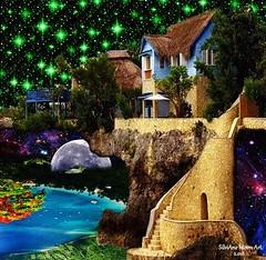 Art: Green Stars in Jamaica - By SilviAne Moon. (Silviane Moon) Tags: art digitalart digitalcollage digitalpainting futuristic photomanipulation planetas planets planetspace space moon surreal surrealart surrealism surrealismo surrealistic universe surrealfantasy arte silvianemoon silvianemoonart jamaica