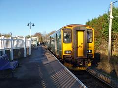 150202 Gunnislake (3) (Marky7890) Tags: gwr 150202 class150 sprinter 2p87 gunnislake railway cornwall tamarvalleyline train