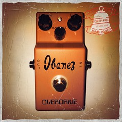 It says overdrive but its a fuuuuuuuuzz! (jivethunders) Tags: fuzz pedal ibanez