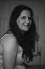 Canon EOS 60D - Black & White Portrait - My wife Lisa (Gareth Wonfor (TempusVolat)) Tags: picmonkey garethwonfor lisawonfor lisa wife beautiful brunette smile slumped shoulder tired face portrait beautifulwife woman gareth wonfor tempus volat mrmorodo mono monochrome black white 2014 canon eos 60d mywife tempusvolat