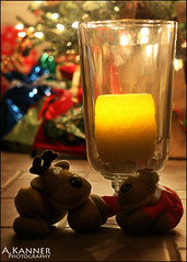 Curious Candles...   smile on saturday (angelakanner) Tags: canon70d carlzeiss candle christmas reindeer smileonsaturday curiouscandles