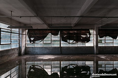 Falling curtains (dustandsilence.net) Tags: abandoned abandon abbandonato abbandono abandonment abandonedplace decay dustandsilence derelict decayed decadenza decadente derelictplaces urbex urbanexploring urbanexploration industrial industrialdecay industriale industry industria