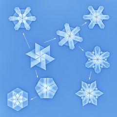 Snow Crystal (Kunio Suzuki) (De Rode Olifant) Tags: origami snowchrystal kuniosuzuki paper paperart marjansmeijsters diagrams origamisnowcrystal origamicrystal tanteidan translucentfolding enjoyableorigamitodecorateyourliving tomokofuse