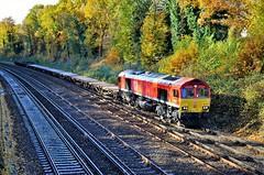 66150 (stavioni) Tags: db cargo schenker class66 red shed 66150 diesel rail railway train locomotive engineers freight railfreight