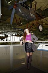 BAAA3521a (Lee Mullins) Tags: duxford jenbailey jennybailey model hairdresser thighboots statues biplane