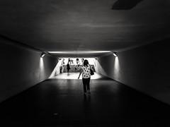 Towards the light (wojciechpolewski) Tags: underground tunnel people woman streetphotographer streetphoto streetphotography explorestreets streetexploration urban streetlife blacknwhite blackandwhite bnw bw monotone monochrome monochromatic monochromatico wpolewski poland kedzierzynkozle