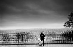 standing alone in the crowd (matwolf) Tags: paris alone crowd people winter sacrecoeur city blackandwhite experiment bw blackwhite noirblanc noir noiretblanc schwarzweis france frankreich