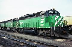 BN SD45 6493 (chuckzeiler50) Tags: bn sd45 6493 railroad emd locomotive clyde train chuckzeiler chz
