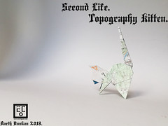 Second Life Topography Kitten  - Barth Dunkan. (Magic Fingaz) Tags: barthdunkancatchatgatokittenorigamiorigamicatgatto kedi kočka kot kucing mačka paperfolding γάτα кіт мачка ネコ猫