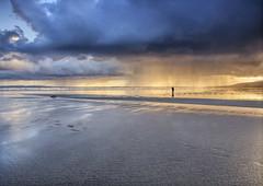 Braving the elements (irishman67) Tags: kerry fermoyle fermoylebeach cokerry rain beach clouds downpour landscape seascape wildatlanticway moody weather ireland photographer