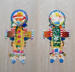 pla-creature7-kosmonaut2 (Albert_Roos) Tags: cobra colorfullsculpture creature mask face printwaist filament 3dprint 3d print waist