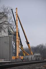Oops At Unimin Update (R.G. Five) Tags: train railroad derailment crane unimin oregon il aurora sub bnsf sand sio