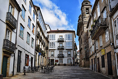 Santiago de Compostela (Jocelyn777) Tags: architecture buildings streets stones historictowns monuments oldtown sky clouds doorsandwindows santiagodecompostela galicia spain travel