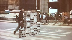 lin Yilin, Safely Manouvering across Linhe Road, 1995 (Paul Keller) Tags: art china museum sanfrancisco sfmoma traffic travel video