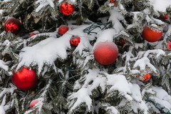 Ornaments and Snow