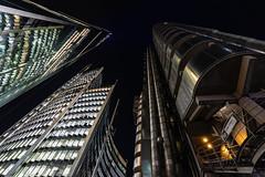 Lloyds Building (pboolkah) Tags: canon canon5d canon5dmkiv london cityscape night skyscraper