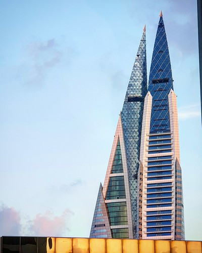 The Bahrain World Trade Centre A Landmark Building In Kingdom Of