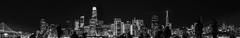 preshow nye fireworks panorama (pbo31) Tags: bayarea california nikon d810 night dark black newyearseve boury pbo31 sanfrancisco city treasureisland holiday skyline silhouette people salesforce embarcaderocenter transamerica blackandwhite panorama panoramic baybridge motion blur stitched large