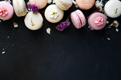 Colorful macarons on black stone background. Top view with copy space. (lyule4ik) Tags: macaron assorted background bakery biscuit cake colorful cookie cream delicious dessert flavor food french gourmet macaroon pastry pink snack sugar sweet tasty above almond chocolate confectionery different green macarons pastel pistachio traditional yellow brown fruit passion raspberry row topview type vanilla various gray marble table top birthday white candy color