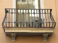 Balcony, Gràcia, Barcelona (Spencer Means) Tags: architecture building house balkon balcony balcón barcelona gràcia