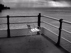 No Takers Today (Smiffy'37) Tags: worthing sea blackwhite chair railings drama