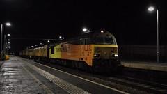 Night Patrol (Tim's Train Photos) Tags: testtrain colas colasrailfreight colasrail class67 skip 67027 67023 networkrail hartford hartfordstation wcml charlotte stella infrastructuremonitoring 1q30