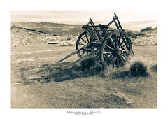 Days Gone By ... (Dominic Scott Photography) Tags: dominicscott newzealand derelict rusty abandoned cart sonya7r sony sel2470z ilce7r blackandwhite monotone