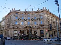 Milano (54) (pensivelaw1) Tags: italy milan statues trump starbucks romanruins thefinger trams cakes architecture