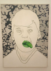 Provocatie (1987), Ad Gerritsen (1940-2015) (michael_s_pictures) Tags: provocatie provocation adgerritsen schilderij painting groen tong green tongue boy jongen