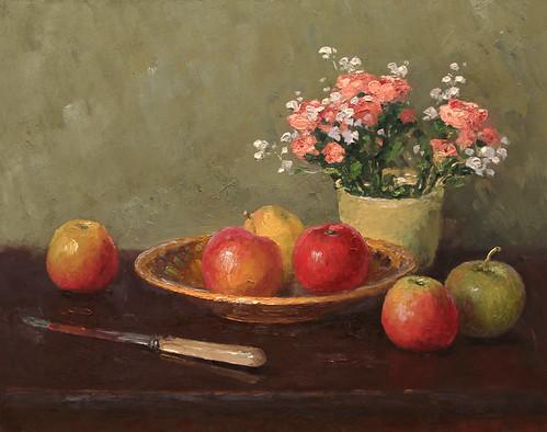 Александр Александровский «Натюрморт с красными яблоками», 2014 г.