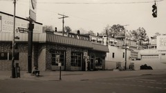 This is a photo of my father's BP station at 41st and Falls Road in the 70s it was one of the many BP stations in Baltimore Maryland (billedgar8322) Tags: bill edgar hampden baltimore city bp gas station oil tires pump hose auto car run sinclair
