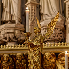 Angel (Croydon Clicker) Tags: candle candlestick angel holder church cathedral alter london southwark gold wings frieze