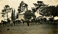 Taken somewhere in New South Wales - circa 1913 (Aussie~mobs) Tags: sjbennett campsie newsouthwales australia vintage 1913 sulky group sunday church vehicles outing horseandtrap lschumann stpeters sydney playford
