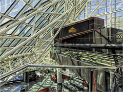 ROCK & ROLL HALL OF FAME (danielgweidner) Tags: rockandrollhalloffame s120 vacation weidner rockandroll rockmusic architecture abstract photoart unatrix3d redfieldplugin ohio lakeerie cleveland canon music soul