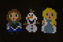 More Creations (evaxebra) Tags: perler bead beads olaf anna elsa creations