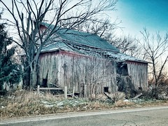 Barn on the side of the road (gmmech) Tags: iphone wisconsin barn