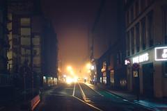 Yellows (HatCat Photography) Tags: street car tram traffic light taxi rush hour yellow cab crosswalk public transport station bus urban antwerp moody haze
