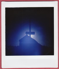 Light sign (bigalid) Tags: instax analogue instant dianainstantsquare lomography lomo december 2018 dumfries f150 600dpi 1100 pinhole sun silhouette square