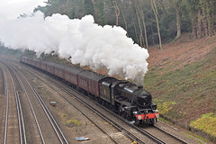 Five goes to Alton (ianmartian) Tags: steam stanier black5 44871 special woking alton cathedrals express