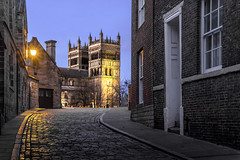 The Back Streets (Glenn D Reay) Tags: durham cathedral early bluehour street light cold cobbles pentaxart pentax k70 sigma1770hsm glennreay