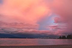 Painted Love 💓 Vancouver, BC (Michael Thornquist) Tags: vancouver englishbay locarnobeach sunset beach clouds pinkclouds pink sand reflection stanleypark cargoship bulkcarrier jerichobeach jerichopier pier jerichosailingcentre 604now photos604 explorebc explorecanada canoncanada ilovebc britishcolumbia pacificnorthwest pnw canada 500px
