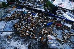 Smoking kills (Le.Patou) Tags: aquitaine medoc soulac le mistral déchet mégot bouteille détritus cigarette fz1000 waste garbage ashtray stub bottle trash demolition urbex abandoned