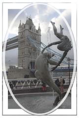 Fun by Tower Bridge (Audrey A Jackson) Tags: canon60d london city bridge towerbridge sky clouds