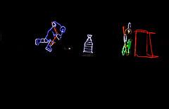 Hockey Night in Canada ..Soirée du Hockey au Canada (Bob (sideshow015)) Tags: nuit couleur hockey lumières nikon d7100 sigma burlington ontario canada affichage festif night color lights display festive