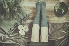 My socks (Graella) Tags: socks calcetines mitjons feet legs pies invierno winter flatlay overhead verde green selfie seasonsmydiary plants tree abeto botella bottle velas candles manta woman people gente magicwinter seasons seasonspoetry