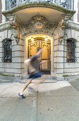 Happy NYC Marathon! (hilarybachelder) Tags: naturalframes run runner uws riversidedrive fast speed shutterspeed blur a7rii architecture composition color city cityscape fullframe frame goldenhour golden historic prewar prewarbuilding upperwestside light illuminated leadinglines lines leading lights mirrorless manhattan nyc pointofview pov athlete sony sonya7rii urban streetphotography street vantagepoint viewpoint wideangle yellow zeiss zoom wide fe 1635mm gm fe1635mmf28gm gmaster