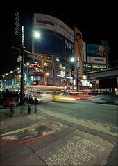 earth-hour_dundas-square_during_01_8779992268_o (wvs) Tags: ads billboards downtown dundas earth earthhour energy hour lights longexposure night people square streak traffic toronto ontario canada can